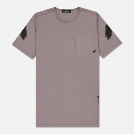 Мужская футболка Stone Island Shadow Project Catch Pocket Lavender