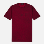Stone Island Shadow Project Catch Pocket Men's T-Shirt Maroon photo- 0
