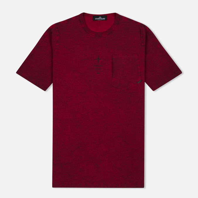 Stone Island Shadow Project Catch Pocket Men's T-Shirt Maroon