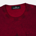 Stone Island Shadow Project Catch Pocket Men's T-Shirt Maroon photo- 1