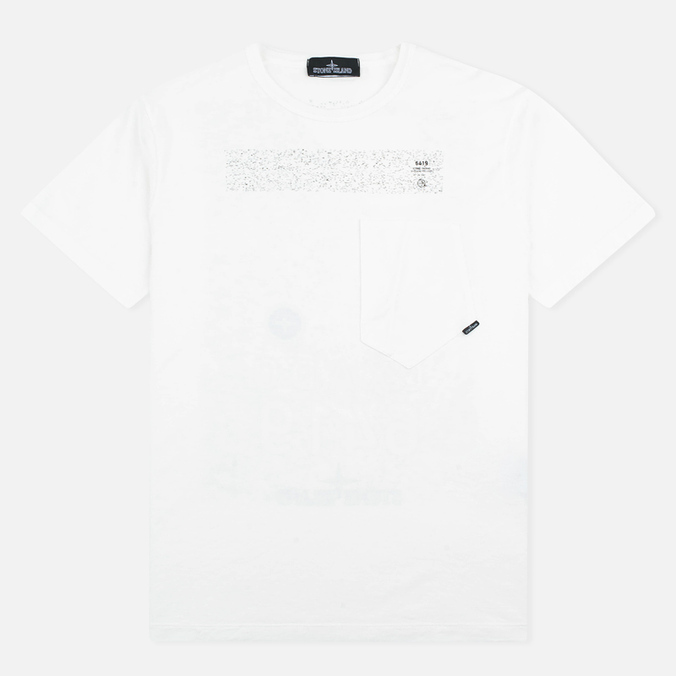 Мужская футболка Stone Island Shadow Project Catch Pocket SS White