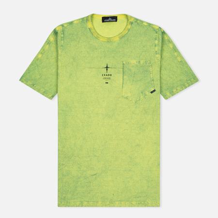 Мужская футболка Stone Island Shadow Project Catch Pocket Yellow