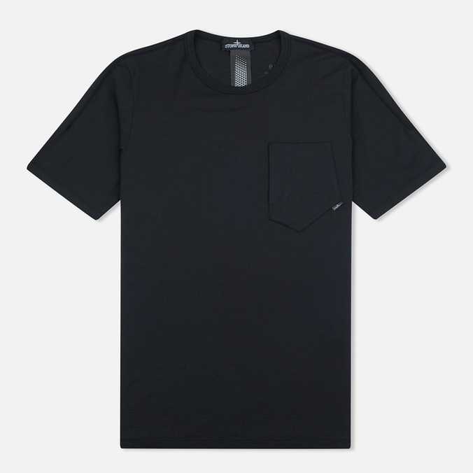 Мужская футболка Stone Island Shadow Project Cotton Crew Black