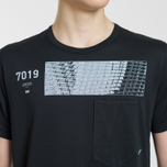 Мужская футболка Stone Island Shadow Project Geometric Print Front Black фото- 3