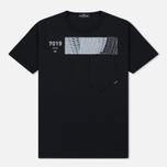 Мужская футболка Stone Island Shadow Project Geometric Print Front Black фото- 0