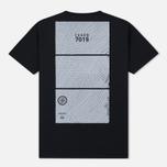 Мужская футболка Stone Island Shadow Project Geometric Print Front Black фото- 1