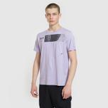 Мужская футболка Stone Island Shadow Project Geometric Print Front Lavender фото- 2