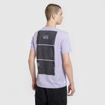 Мужская футболка Stone Island Shadow Project Geometric Print Front Lavender фото- 4