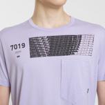 Мужская футболка Stone Island Shadow Project Geometric Print Front Lavender фото- 3