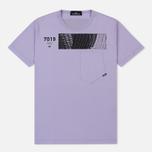 Мужская футболка Stone Island Shadow Project Geometric Print Front Lavender фото- 0