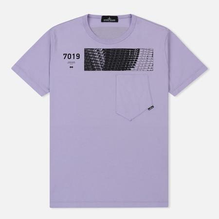 Мужская футболка Stone Island Shadow Project Geometric Print Front Lavender