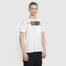 Мужская футболка Stone Island Shadow Project Geometric Print Front Natural White фото- 2