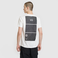 Мужская футболка Stone Island Shadow Project Geometric Print Front Natural White фото- 4
