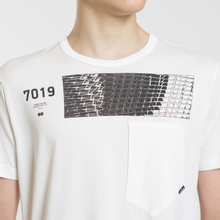 Мужская футболка Stone Island Shadow Project Geometric Print Front Natural White фото- 3