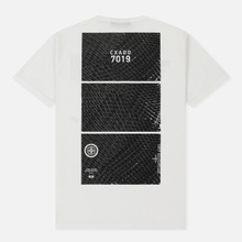 Мужская футболка Stone Island Shadow Project Geometric Print Front Natural White фото- 1