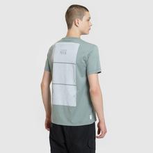 Мужская футболка Stone Island Shadow Project Geometric Print Front Sage Green фото- 4