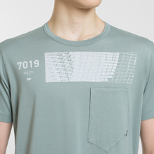 Мужская футболка Stone Island Shadow Project Geometric Print Front Sage Green фото- 3