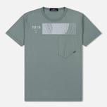 Мужская футболка Stone Island Shadow Project Geometric Print Front Sage Green фото- 0