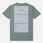 Мужская футболка Stone Island Shadow Project Geometric Print Front Sage Green фото- 1