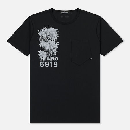 Мужская футболка Stone Island Shadow Project Mako Jersey Pocket Black
