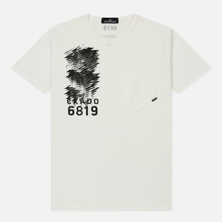 Мужская футболка Stone Island Shadow Project Mako Jersey Pocket Natural White