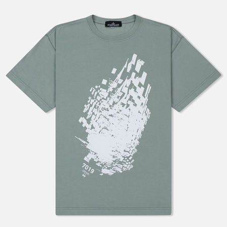 Мужская футболка Stone Island Shadow Project Printed 7019 Sage Green