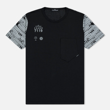 Мужская футболка Stone Island Shadow Project Printed 7119 Black фото- 0