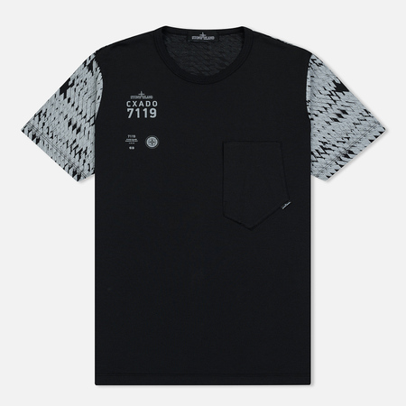 Мужская футболка Stone Island Shadow Project Printed 7119 Black