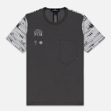 Мужская футболка Stone Island Shadow Project Printed 7119 Grey фото- 0