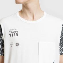Мужская футболка Stone Island Shadow Project Printed 7119 Natural White фото- 2