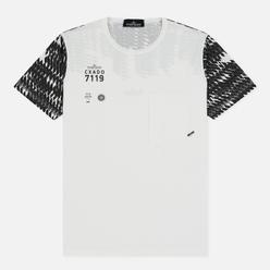 Мужская футболка Stone Island Shadow Project Printed 7119 Natural White