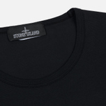 Мужская футболка Stone Island Shadow Project Printed Catch Pocket Garment Dyed Black фото- 1