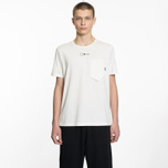 Мужская футболка Stone Island Shadow Project Printed Catch Pocket Garment Dyed Natural White фото- 4