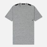 Мужская футболка Stone Island Shadow Project Printed Catch Pocket Steel Grey/Black фото- 0