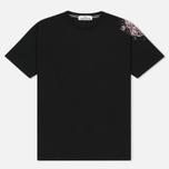 Мужская футболка Stone Island Shoulder Pin Black фото- 0