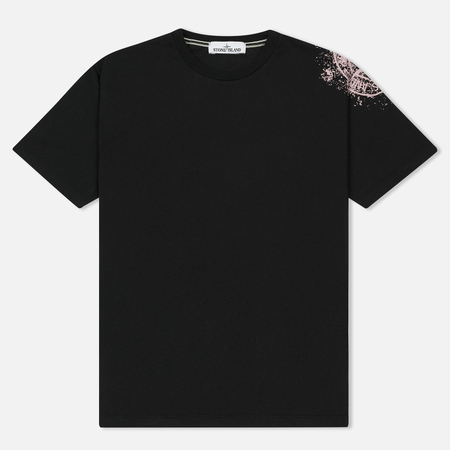 Мужская футболка Stone Island Shoulder Pin Black