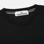 Мужская футболка Stone Island Shoulder Pin Black фото- 1