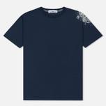 Мужская футболка Stone Island Shoulder Pin Navy Blue фото- 0