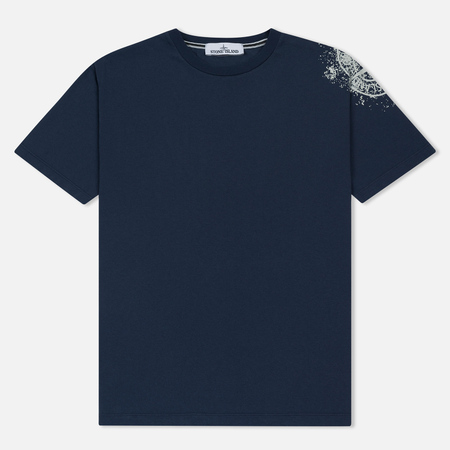 Мужская футболка Stone Island Shoulder Pin Navy Blue