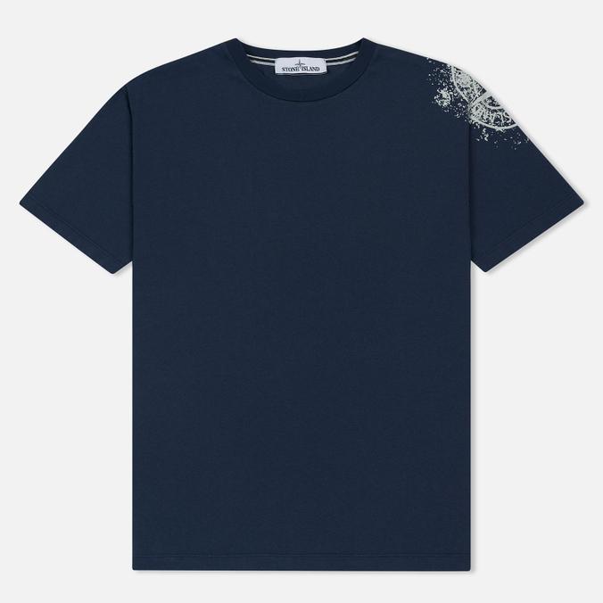 Мужская футболка Stone Island Shoulder Pin Navy Blue
