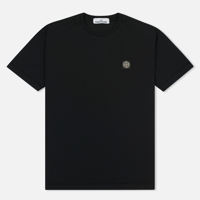 Мужская футболка Stone Island Small Logo Patch Black