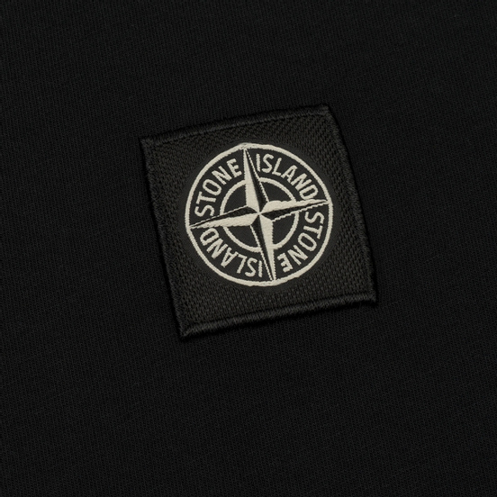 Мужская футболка Stone Island Small Logo Patch Black