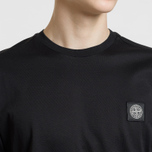 Мужская футболка Stone Island Small Logo Patch Black фото- 5