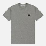 Мужская футболка Stone Island Small Logo Patch Dust Grey фото- 0