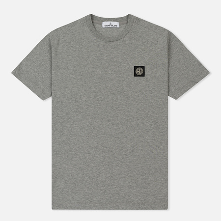 Мужская футболка Stone Island Small Logo Patch Dust Grey