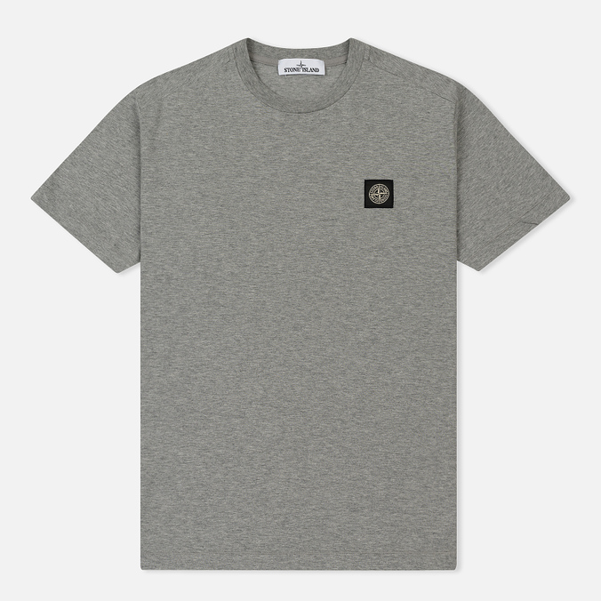 Мужская футболка Stone Island Small Logo Patch Dust Grey