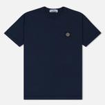 Мужская футболка Stone Island Small Logo Patch Marine Blue фото- 0