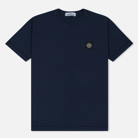 Мужская футболка Stone Island Small Logo Patch Marine Blue