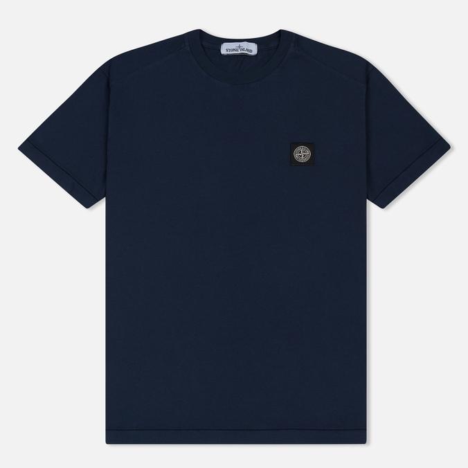 Мужская футболка Stone Island Small Logo Patch Marine Blue