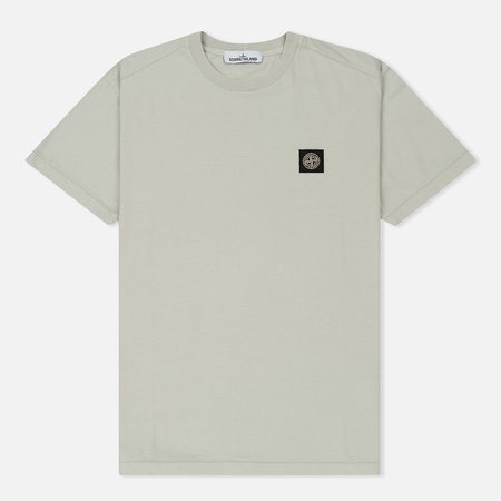 Мужская футболка Stone Island Small Logo Patch Mastic White